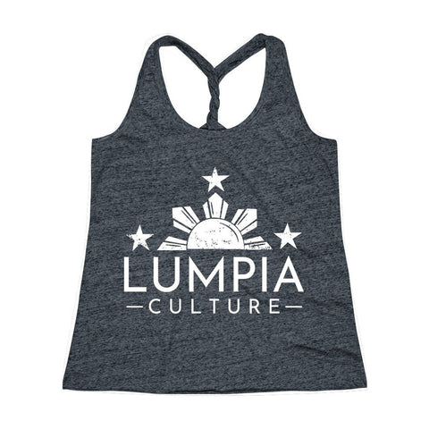 Lumpia Culture™ Women's Cosmic Twist Back Tank Top Tank Top Navy/Royal Cosmic XS
