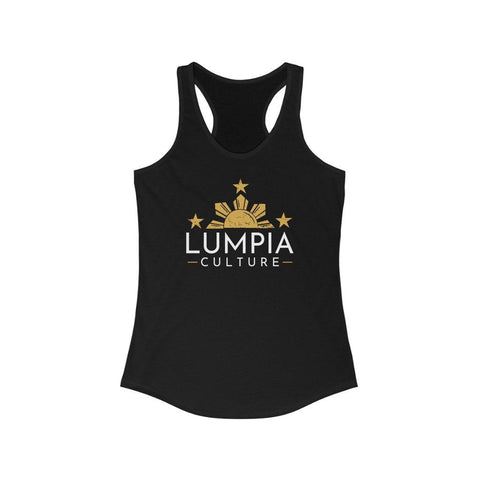 Lumpia Culture™ Women's Racerback Tank Tank Top Solid Black L