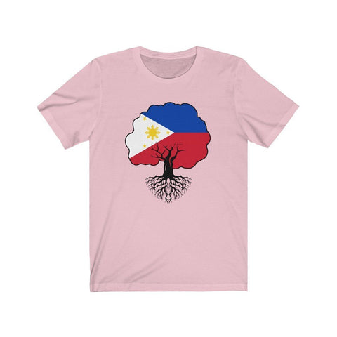 "Philippines Flag ""Roots"" - Filipino T-Shirt - Unisex T-Shirt Pink XS"