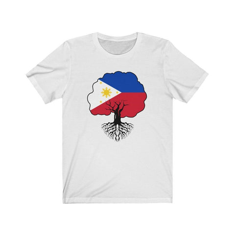 "Philippines Flag ""Roots"" - Filipino T-Shirt - Unisex T-Shirt White XL"