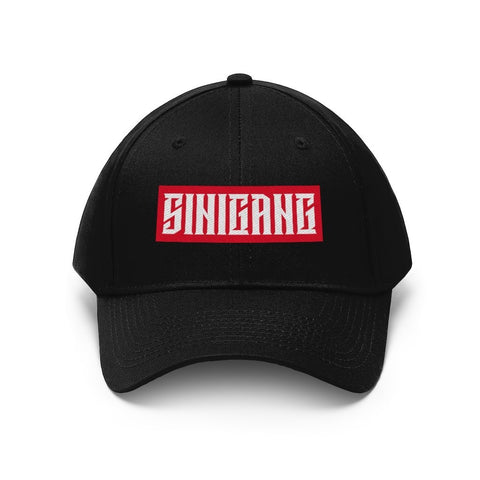 """Sinigang"" Filipino Unisex Twill - Embroidered Dad Hat Hats Black One size"
