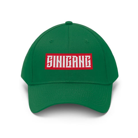 """Sinigang"" Filipino Unisex Twill - Embroidered Dad Hat Hats Kelly Green One size"