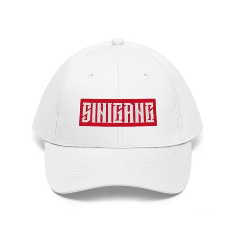 """Sinigang"" Filipino Unisex Twill - Embroidered Dad Hat Hats White One size"