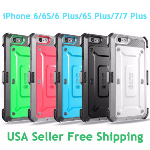 Supcase Unicorn Beetle Full Rugged Case for iPhone 6/6S/7/8 Plus/SE 2 with Screen Protector Belt Clip