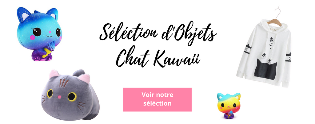 Collection d'objets Chat Kawaii