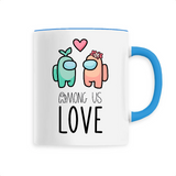 Tasse Kawaii Among Us Love Bleu