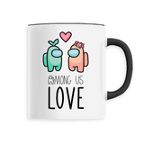 Tasse Kawaii Among Us Love Noir