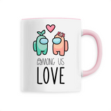 Tasse Kawaii Among Us Love Rose