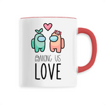 Tasse Kawaii Among Us Love Rouge