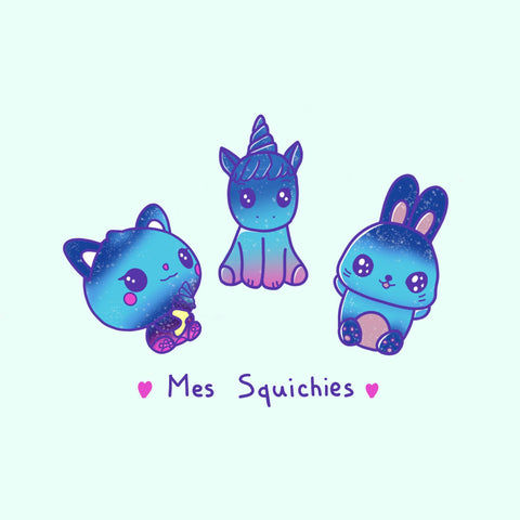 Dessin Kawaii Squishies Galaxy