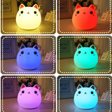 Lampe Kawaii Chat Coloré Couleurs