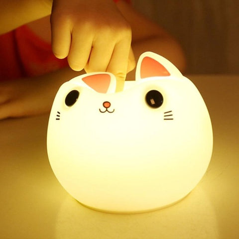 Lampe Kawaii Chat Coloré