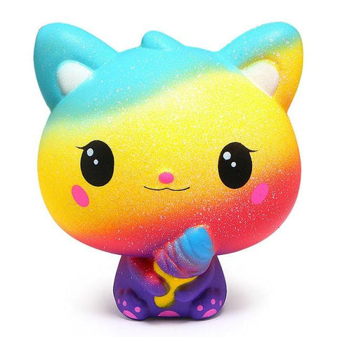 Squishy Kawaii Rainbow Cat