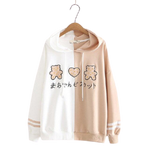 Sweat Kawaii Duo Color Marron