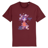 T Shirt Kawaii Magicienne d'Halloween Bordeaux