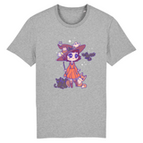 T Shirt Kawaii Magicienne d'Halloween Gris