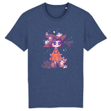 T Shirt Kawaii Magicienne d'Halloween Indigo