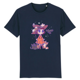 T Shirt Kawaii Magicienne d'Halloween Marine