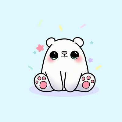 Dessin Kawaii Ours Polaire