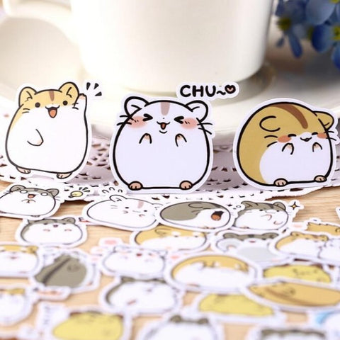 Papeterie Kawaii Stickers Hamster