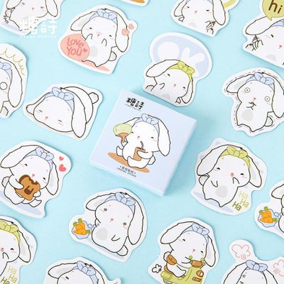 Papeterie Kawaii Stickers Lapin Endormie