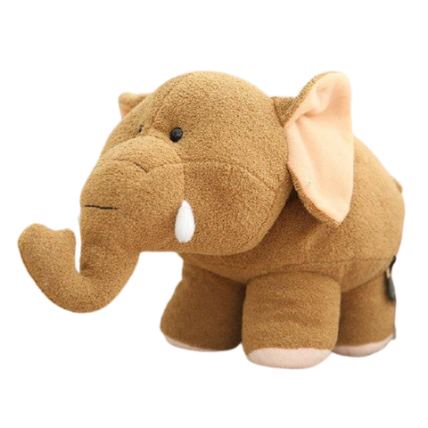 Peluche Kawaii Elephantosaure Marron