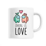 Tasse Kawaii Among Us Love
