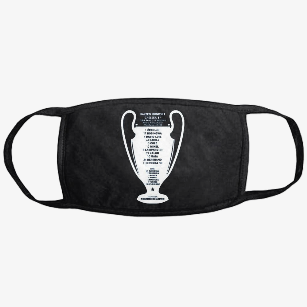 2012 Champions, Chelsea Fc Classic Reusable Mask