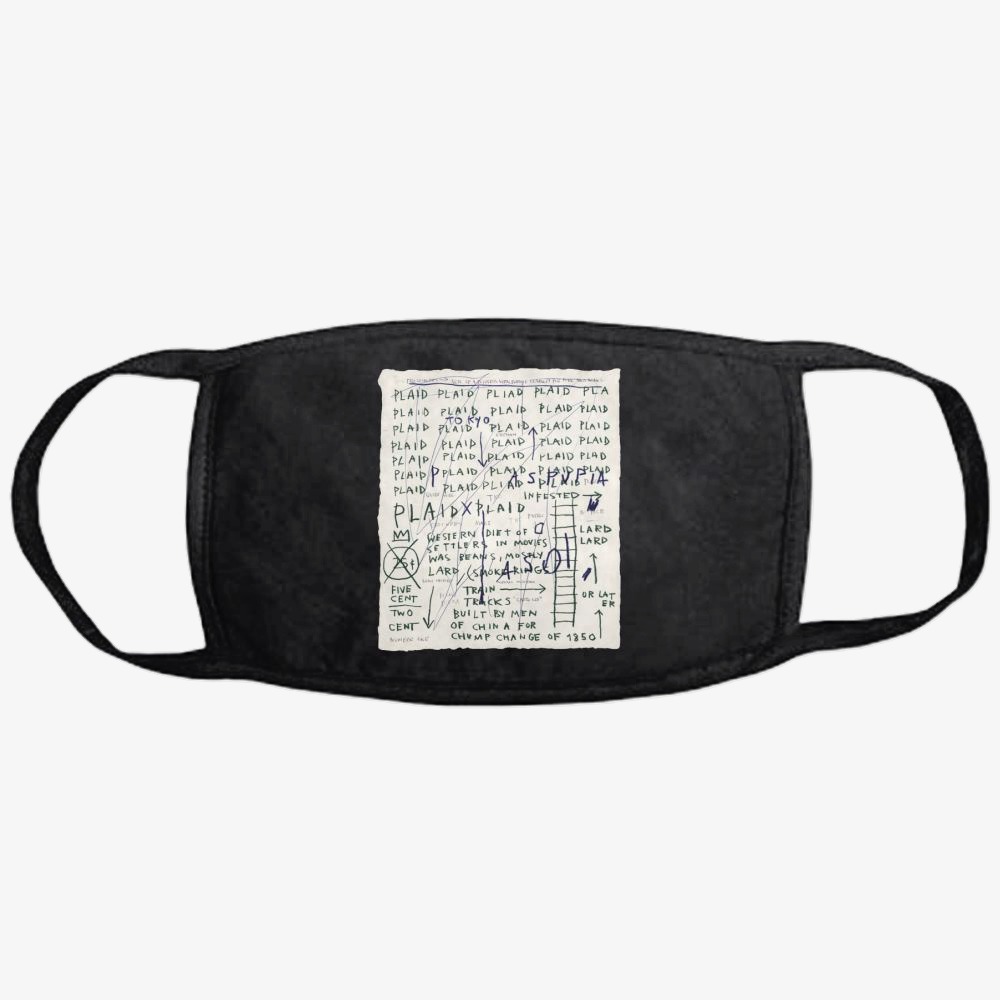 Basquiat Plaid, Jean-michel Basquiat Classic Reusable Mask