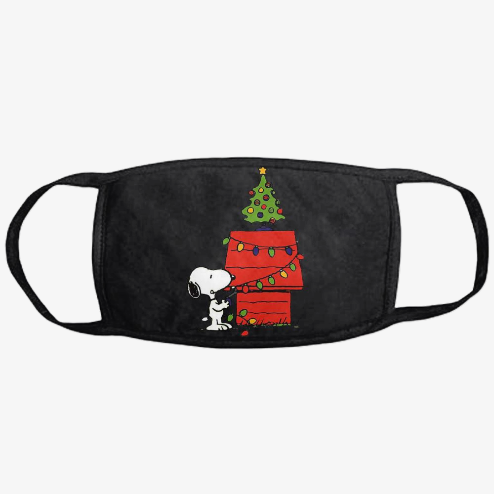 Christmas Snoopy Lights, Snoopy Classic Reusable Mask