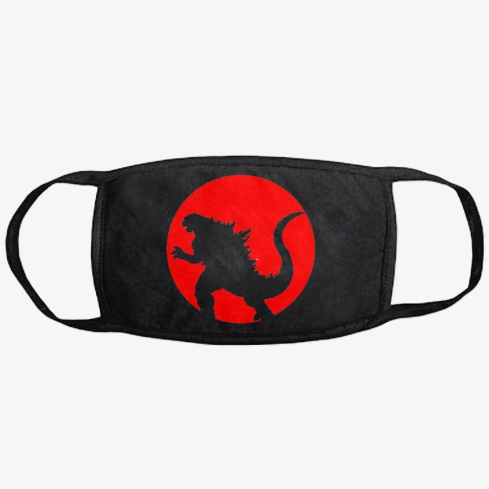 Monster And Japan Flag, Godzilla Classic Reusable Mask