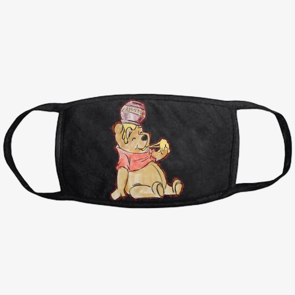 Pooh Bear Watercolor, Winnie-the-pooh Classic Reusable Mask