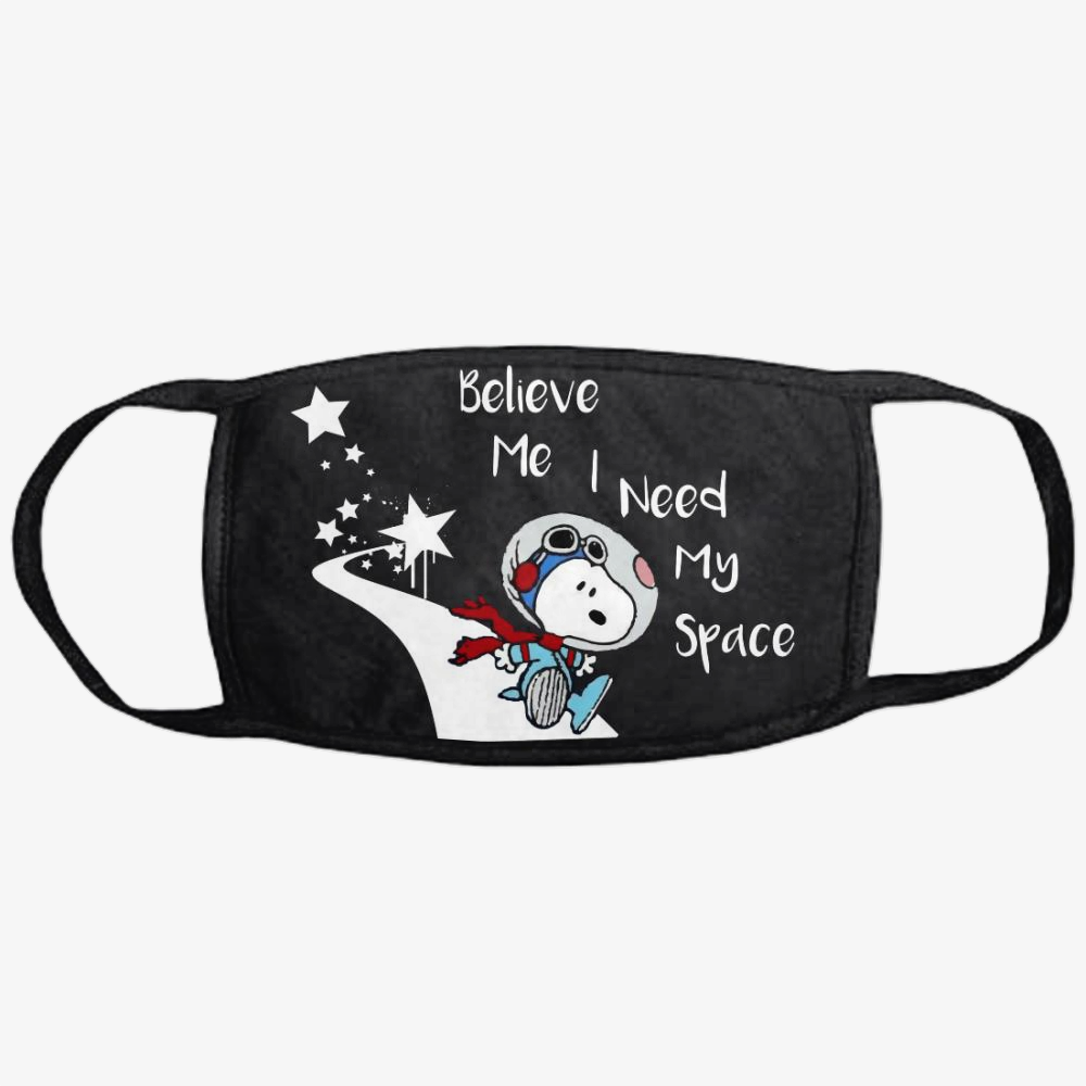 Snoopy Peanuts I Need My Space, Snoopy Classic Reusable Mask