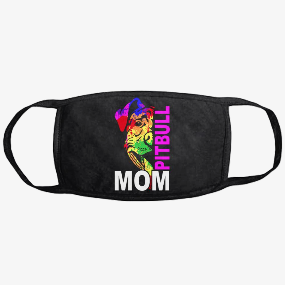 The Pitbull Rainbow Pit Bull Mom, Pitbull Classic Reusable Mask