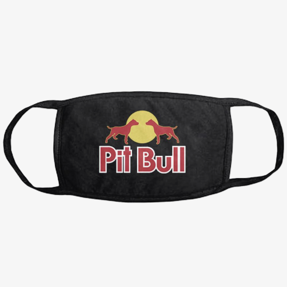 The Pitbull Two Red Pit Bull, Pitbull Classic Reusable Mask