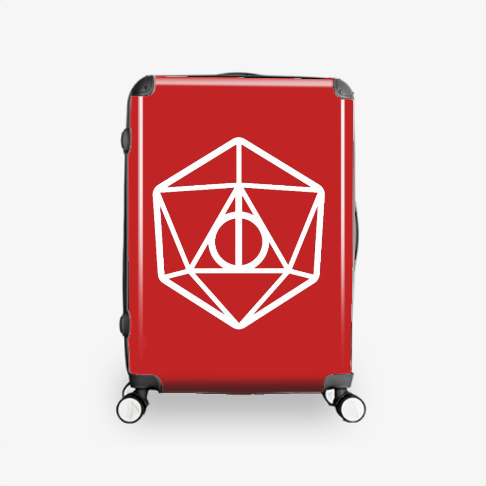 Deathly Hallows Dungeons Dragons D20, Harry Potter Hardside Luggage