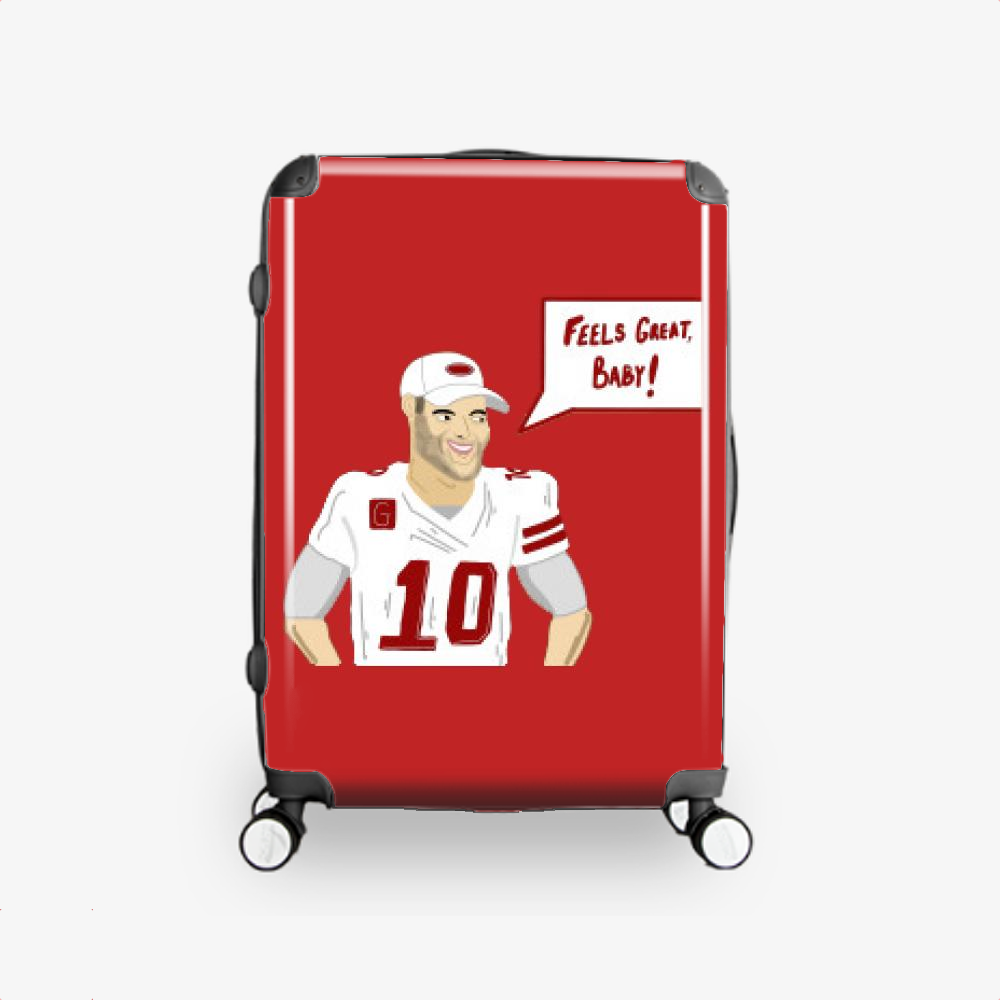 Feels Great, Jimmy Garoppolo Hardside Luggage