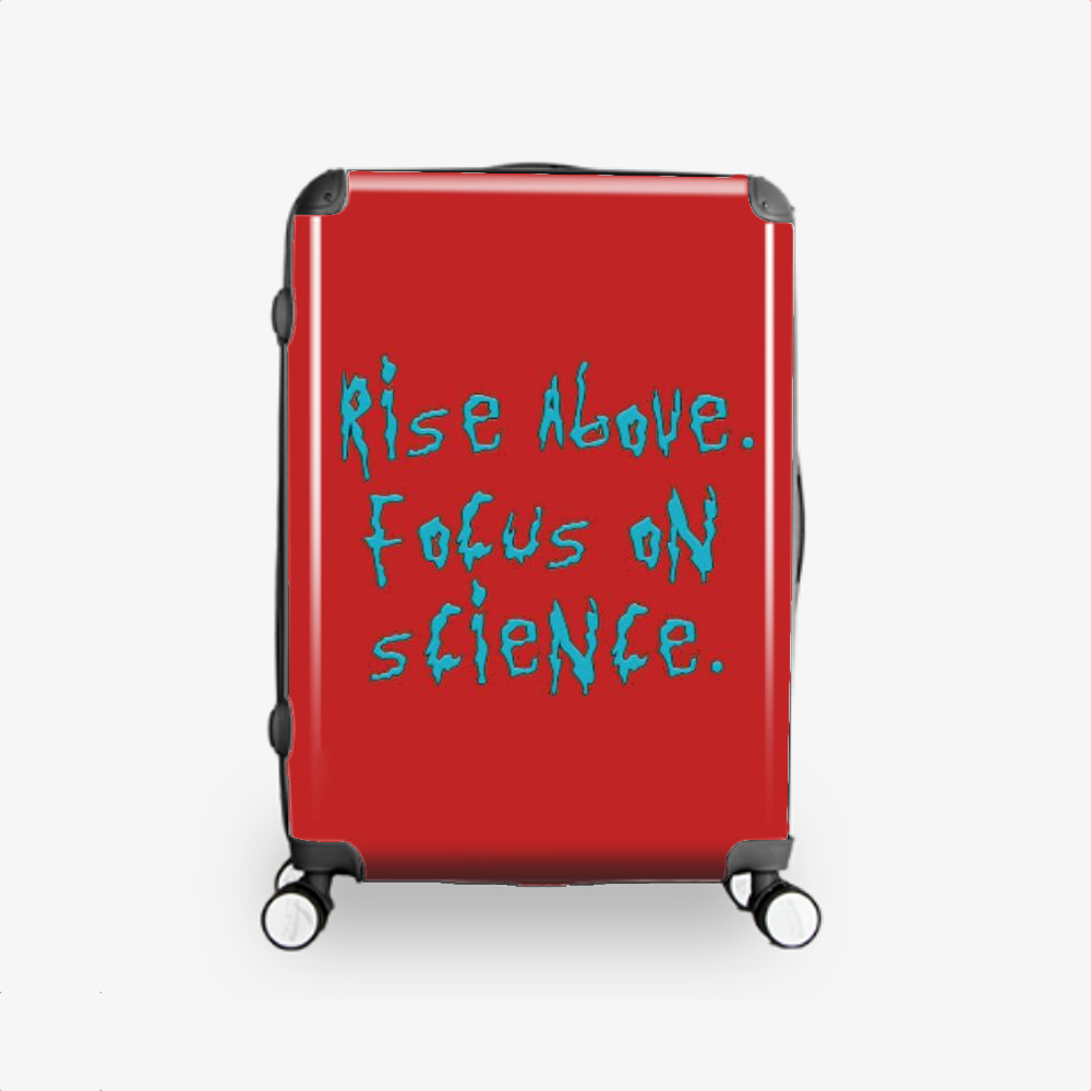Rise Above Focus On Science, Rick And Morty Hardside Luggage