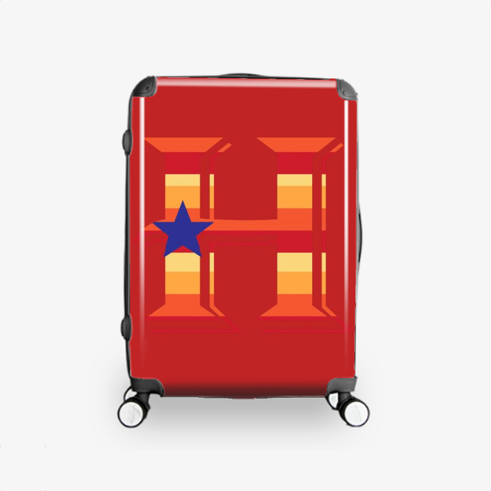 Town Crush City Texas, Houston Astros Hardside Luggage