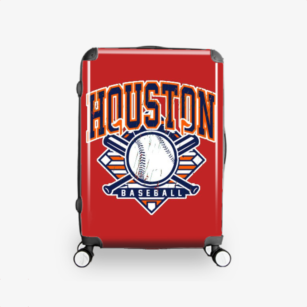 Vintage Houston Baseball, Houston Astros Hardside Luggage