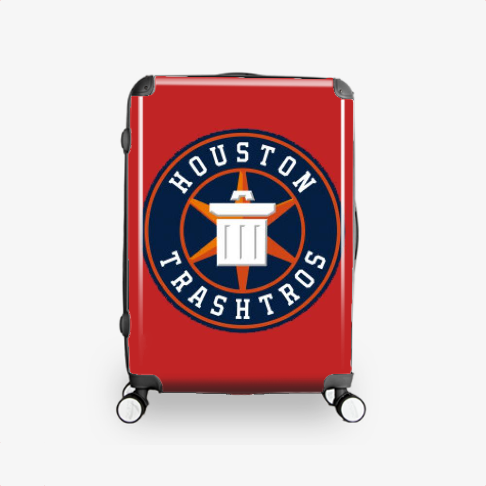 Trashtros Circle Logo, Houston Astros Hardside Luggage