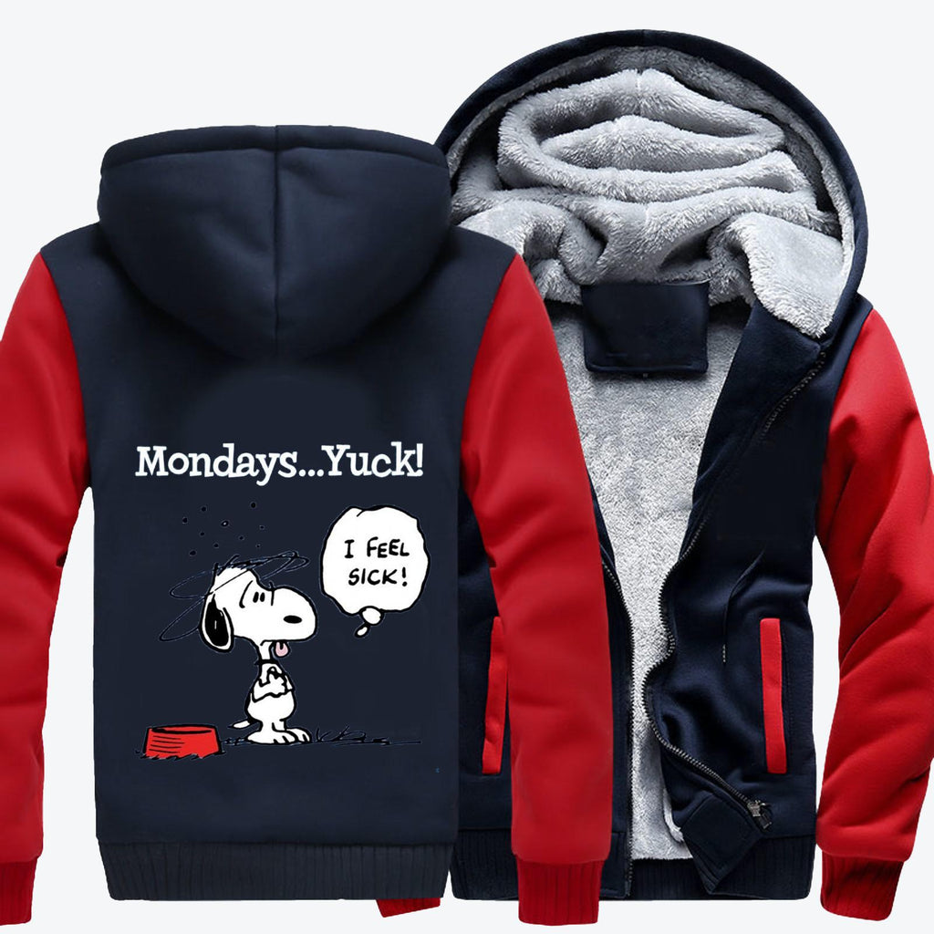 Mondays Yuck, Snoopy Fleece Jacket