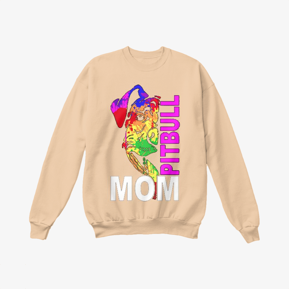 The Pitbull Rainbow Pit Bull Mom, Pitbull Crewneck Sweatshirt
