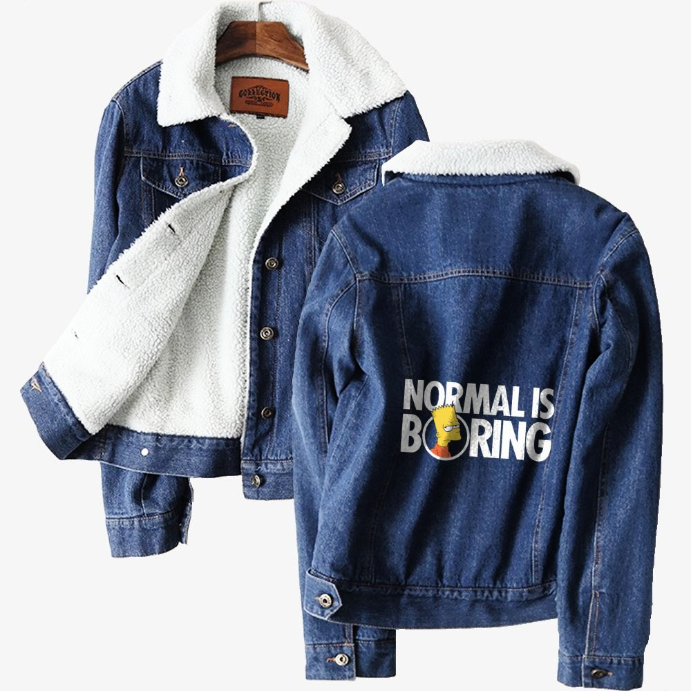 Bart Simpsons Boring, The Simpsons Classic Lined Denim Jacket