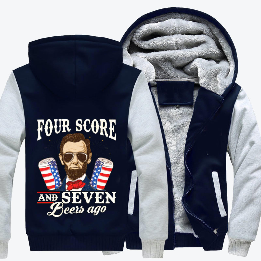 4th Of July, Abraham Lincoln Fleece Jacket