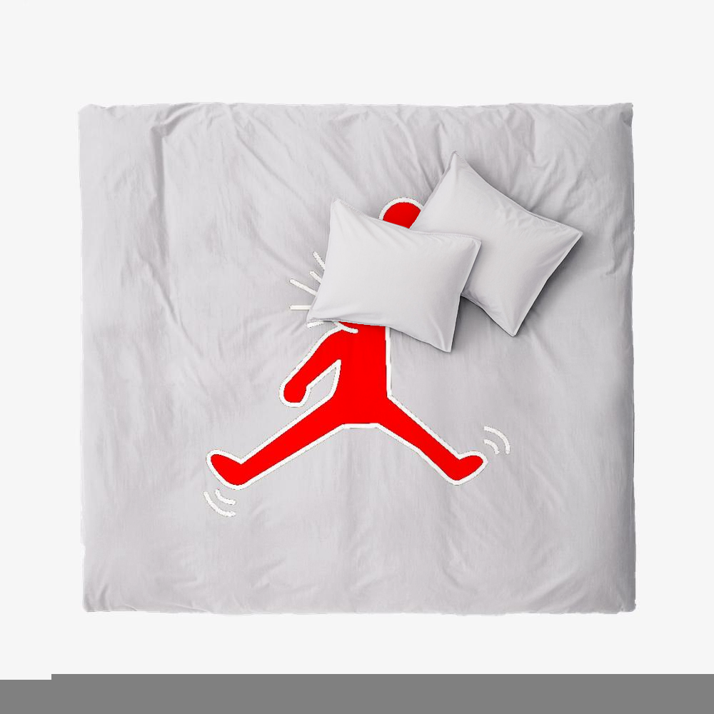 Jumpman Jordan, Keith Haring Duvet Cover Set