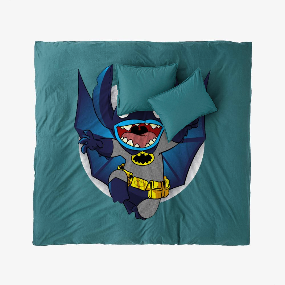 The Caped Invader, Stitch Duvet Cover Set