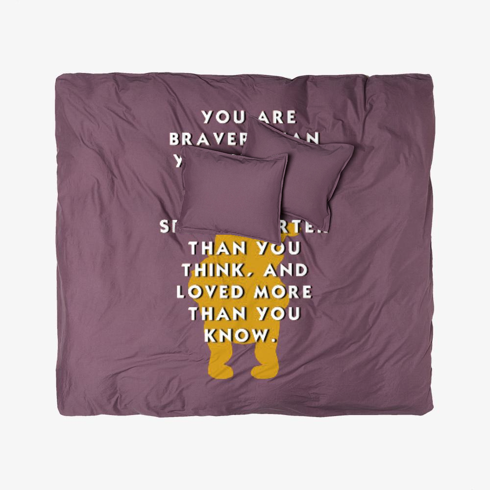 Winnie The Pooh Motivation, Winnie-the-pooh Duvet Cover Set
