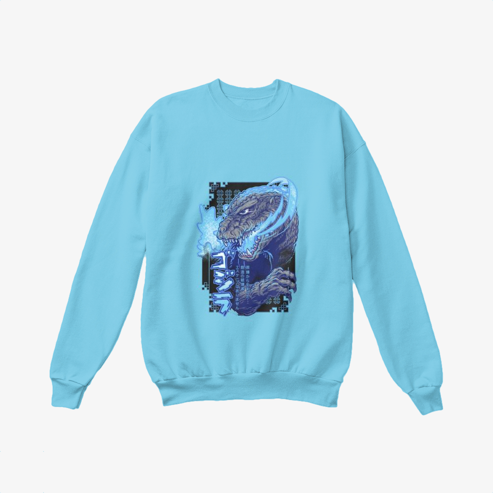 Atomic Fire Born, Godzilla Crewneck Sweatshirt