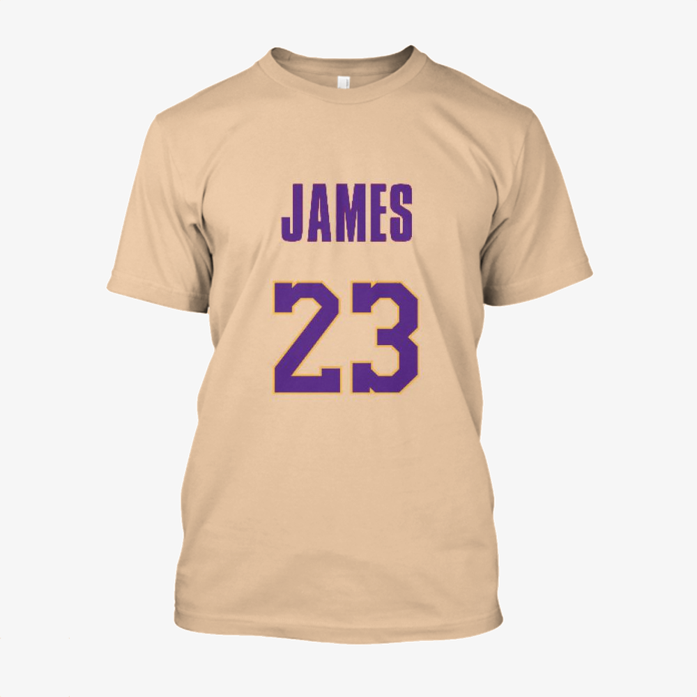 Lakers Jersey 3, Lebron James Cotton T-Shirt